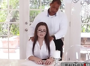Black guy kingpin fucks Gabriellas juicy ass