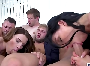 Bisex orgy with beard men