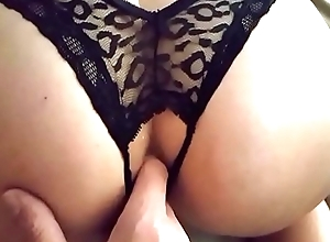 Wife sucks cock and takes it in her ass