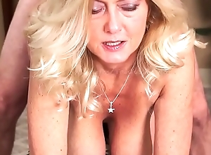 MILF Gives Smoking Blow Job Before Property Fucked Ending w Facial-Smokes w/Cum on Face