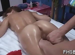 Stunning hottie plays with guy'_s cock by hands and throat