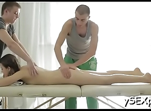 The merciless manner of pussy-fucking makes our whore cum