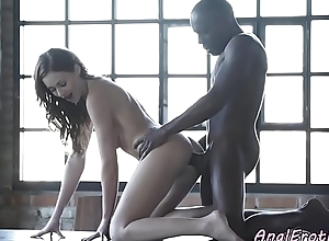 Anal loving babe enjoys interracial sex