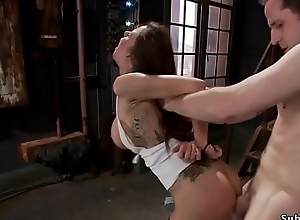 Big tits petite cutie in bondage sex