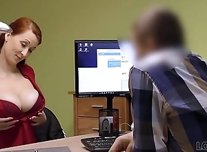 LOAN4K. Agent in credit congress loves boobs of his elegant customer