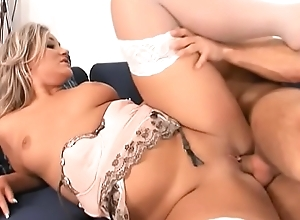 Hot sexy slut Vera Golden dressed up in her sexy lingerie and ready to seduce her man