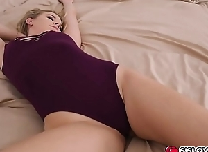 Aubrey Sinclair aided her step bro'_s cock while she'_s on top!
