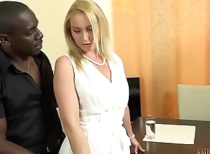 Your gorgeous WHITE wife FUCKING your boss'_s 11 inches BIG, BLACK COCK right front of you!