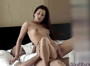 Anal loving eurobabe riding dick