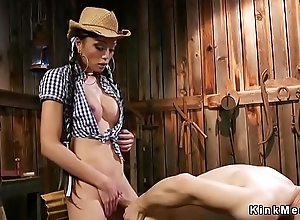 Tranny cowgirl anal fucks challenge in cease operating
